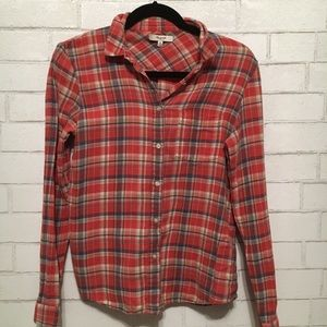 Madewell button up plaid medium